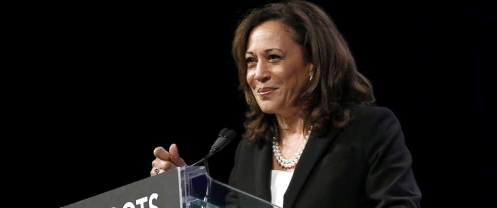PHOTO: Senator Kamala D. Harris speaks at the Netroots Nation annual conference for political progressives in New Orleans, Aug. 3, 2018.