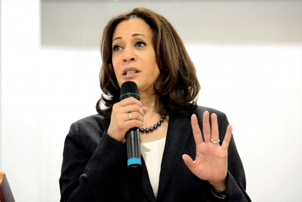 PHOTO: Sen. Kamala Harris speaks during an event in St. George, S.C., March 9, 2019.