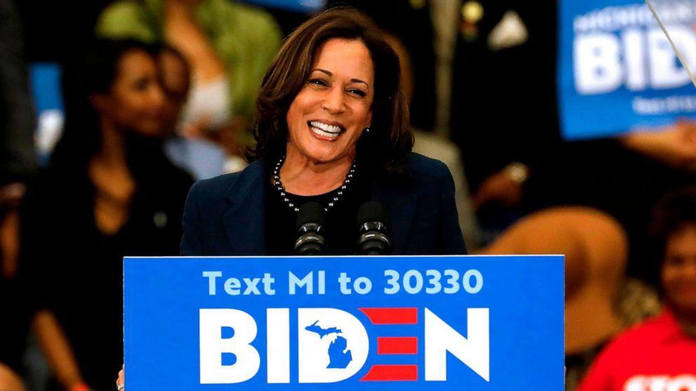 Joe Biden Picks Sen Kamala Harris As His Running Mate Abc News