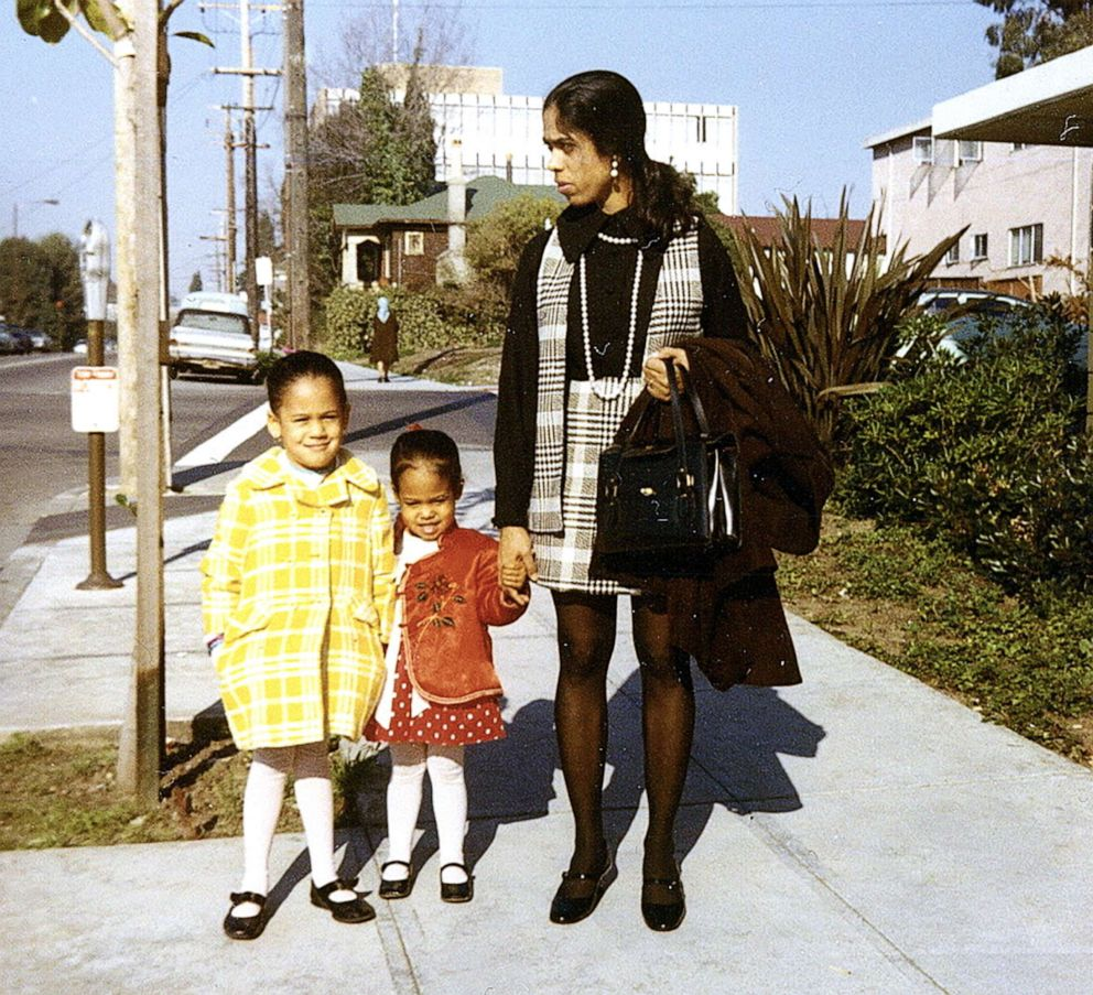 PHOTO: Sen. Kamala Harris (left) pictured with sister Maya and Mother Shymala. Undated photo.