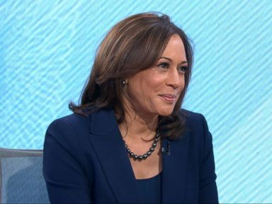 PHOTO: Kamala Harris appears on Good Morning America, Jan. 21, 2019.