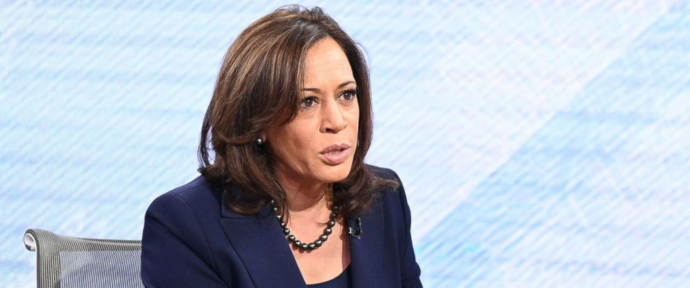 "PHOTO: Senator Kamala Harris appears on ""Good Morning America,"" Jan. 21, 2019."