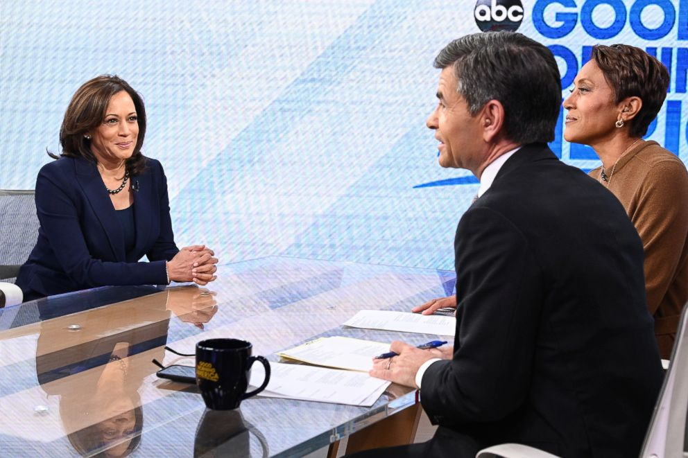 PHOTO: Senator Kamala Harris appears on Good Morning America, Jan. 21, 2019.