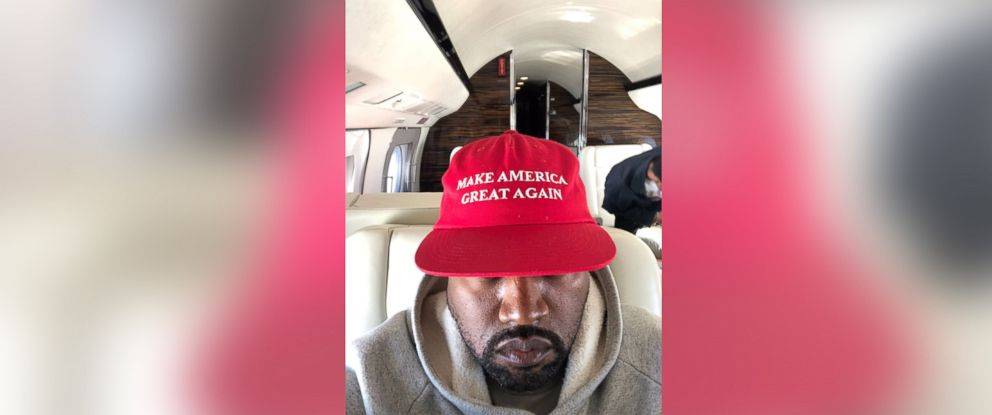 4784430a96d89 PHOTO  Kanye West posted this photo of himself wearing a hat saying