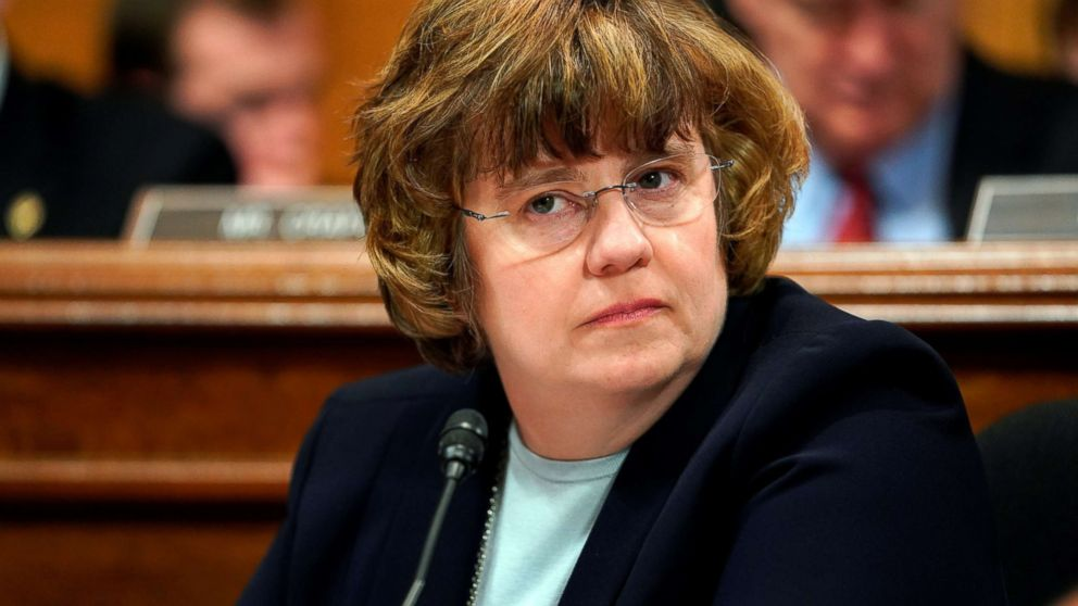 Phoenix prosecutor Rachel Mitchell listens during opening statements before Christine Blasey Ford testifies to the Senate Judiciary Committee on Capitol Hill in Washington, Sept. 27, 2018.
