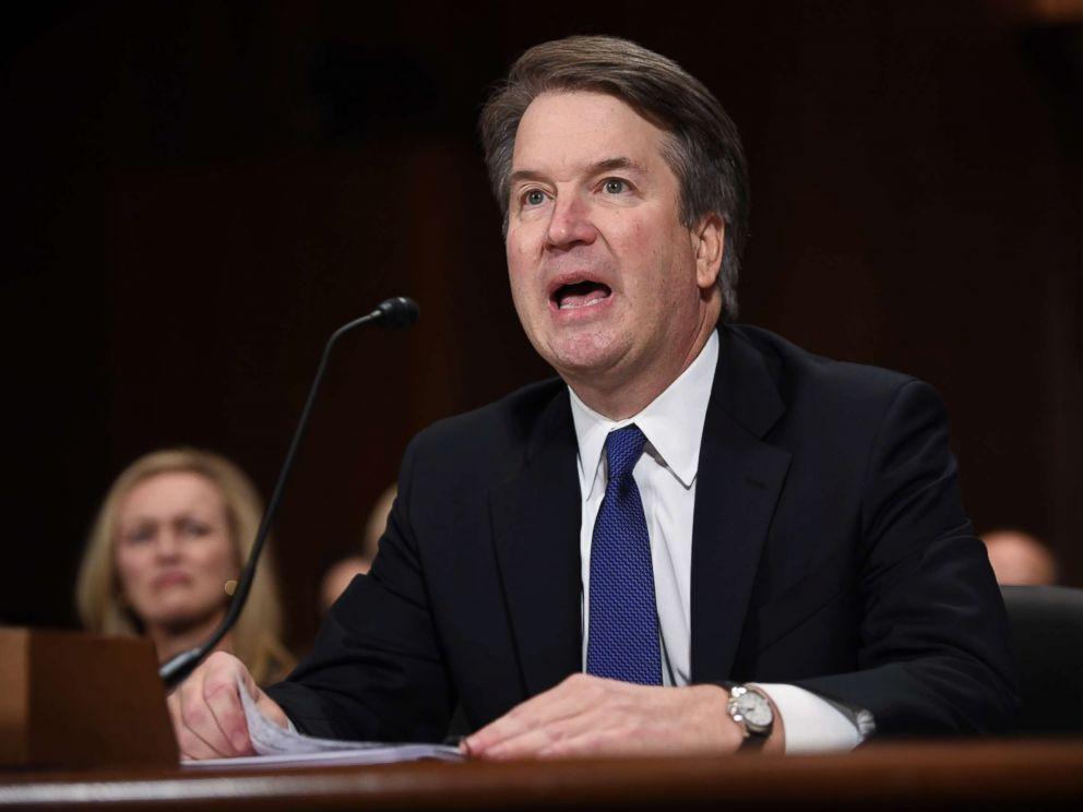 PHOTO: Supreme Court nominee Judge Brett Kavanaugh testifies before the Senate Judiciary Committee on Capitol Hill in Washington, Sept. 27, 2018.