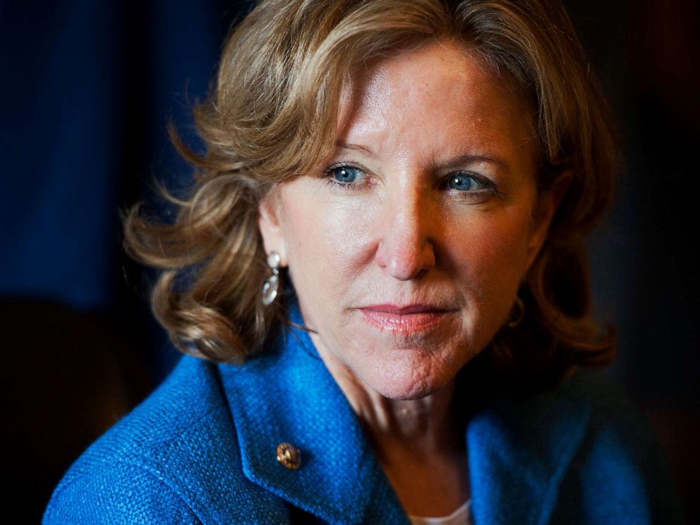 PHOTO: Sen. Kay Hagan, D-N.C., conducts a meeting in the Senate Reception Room of the Capitol in Washtington, D.C., July 22, 2014.