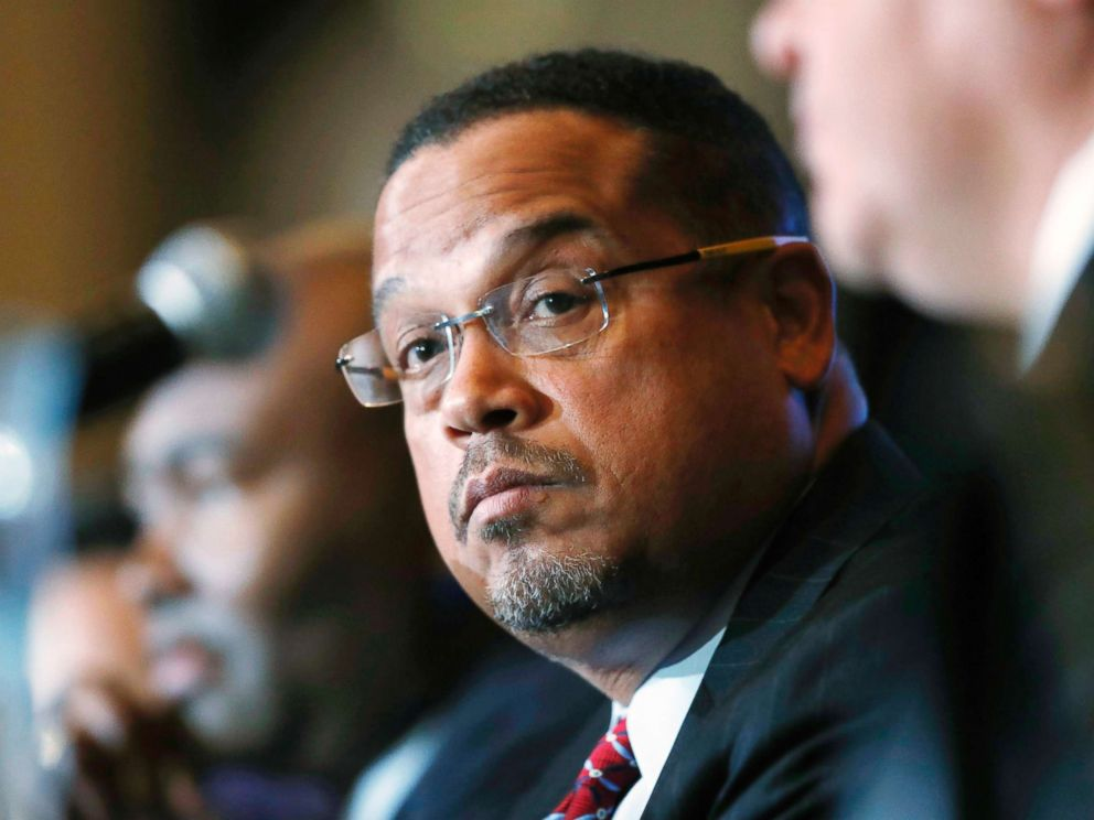 PHOTO: Rep. Keith Ellison, D-Minn., listens during a forum on the future of the Democratic Party, in Denver, Dec. 2, 2016.