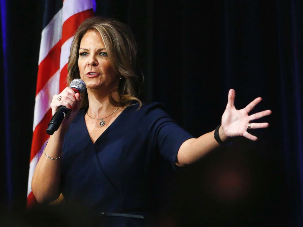 Kelli Ward speaks at a campaign rally Oct. 17 2017 in Scottsdale Ariz
