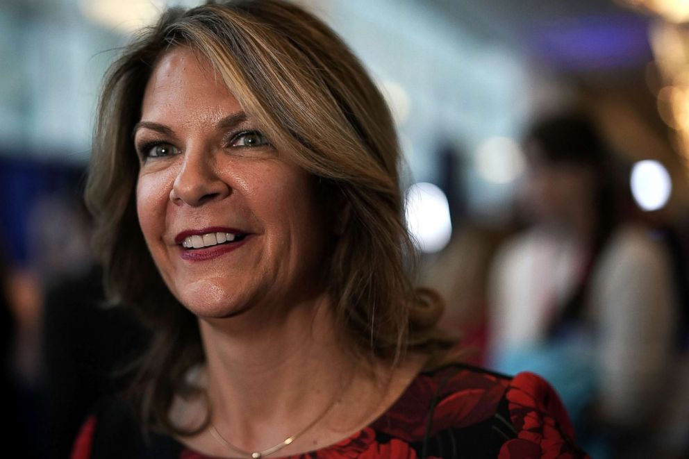 PHOTO: Republican Senate candidate for Arizona Kelli Ward attends CPAC 2018, Feb. 22, 2018, in National Harbor, Maryland.