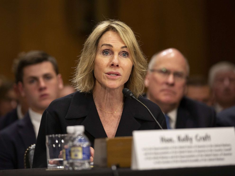 PHOTO: Kelly Craft, President Trumps nominee to be Representative to the United Nations, testifies at her nomination hearing before the Senate Foreign Relations Committee on June 19, 2019, in Washington.