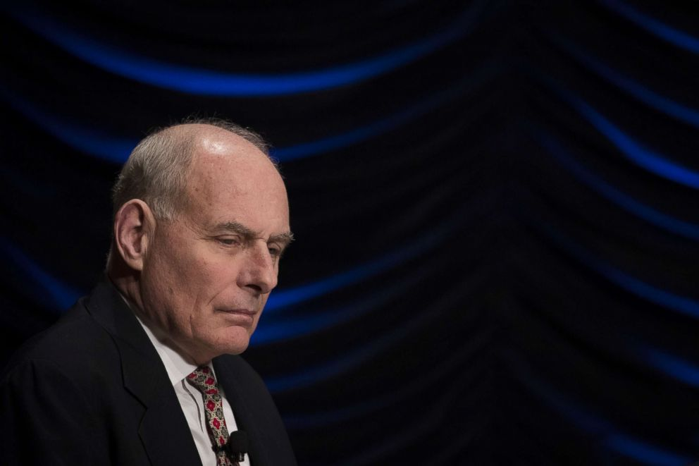PHOTO: White House Chief of Staff John Kelly looks on during an event to mark the 15th anniversary of the Department of Homeland Security, March 1, 2018, in Washington, D.C.