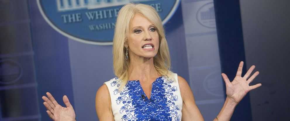 PHOTO: Kellyanne Conway, Counselor to President Donald Trump, poses for a photograph during an interview at the White House, Aug. 3, 2017 in Washington, D.C.