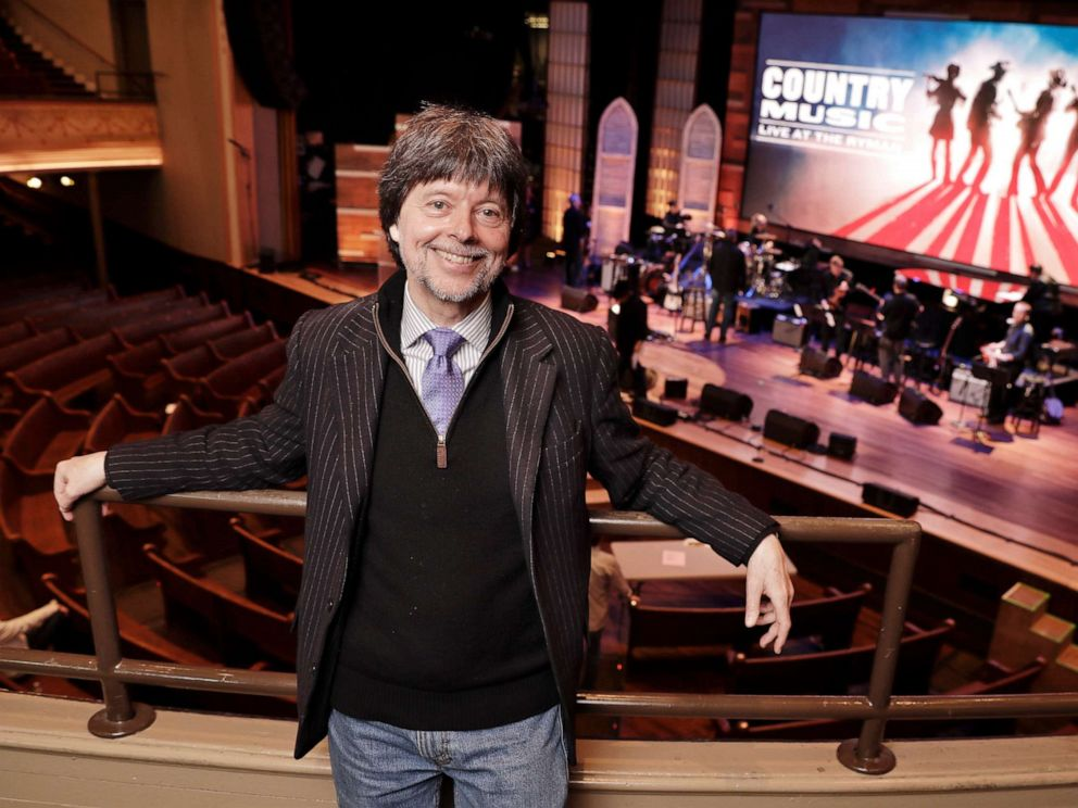 PHOTO: Filmmaker Ken Burn poses in the Ryman Auditorium Wednesday, March 27, 2019, in Nashville, Tenn.