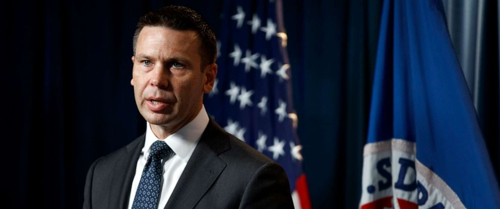 PHOTO: Department of Homeland Security (DHS) acting Secretary Kevin McAleenan speaks during a news conference in Washington, June 28, 2019.