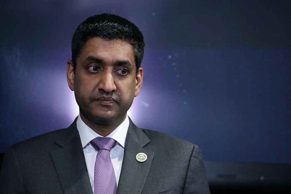 PHOTO: Rep. Ro Khanna (R-CA) participates in a news conference to introduce the Ending Secrecy About Workplace Sexual Harassment Act in the U.S. Capitol Visitors Center, Dec. 18, 2017, in Washington, D.C.