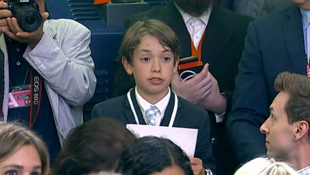 A student reporter was allowed to ask a question at the White House press briefing on Wednesday, May 30, 2018.