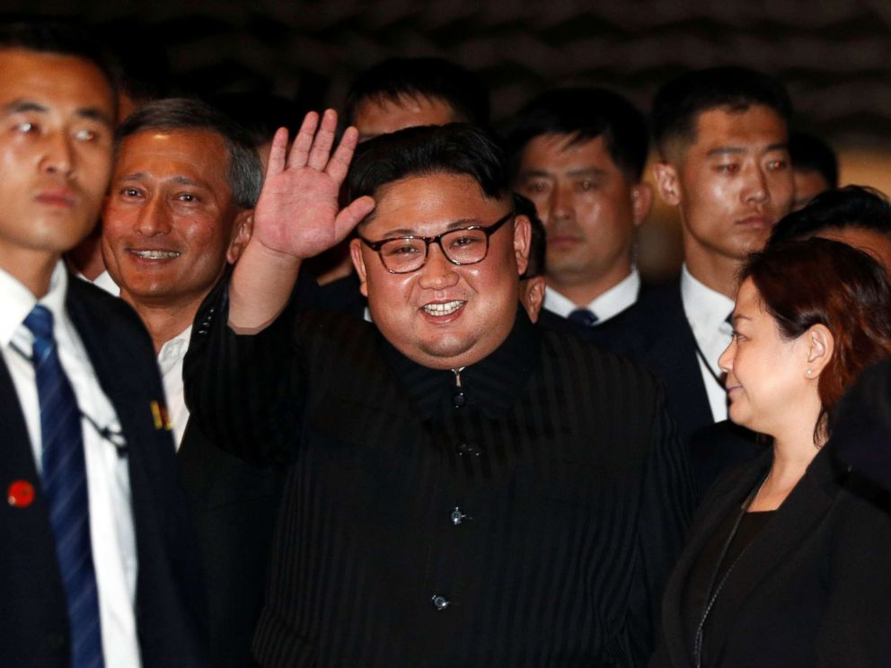 PHOTO: North Koreas leader Kim Jong Un visits The Marina Bay Sands hotel in Singapore, June 11, 2018.
