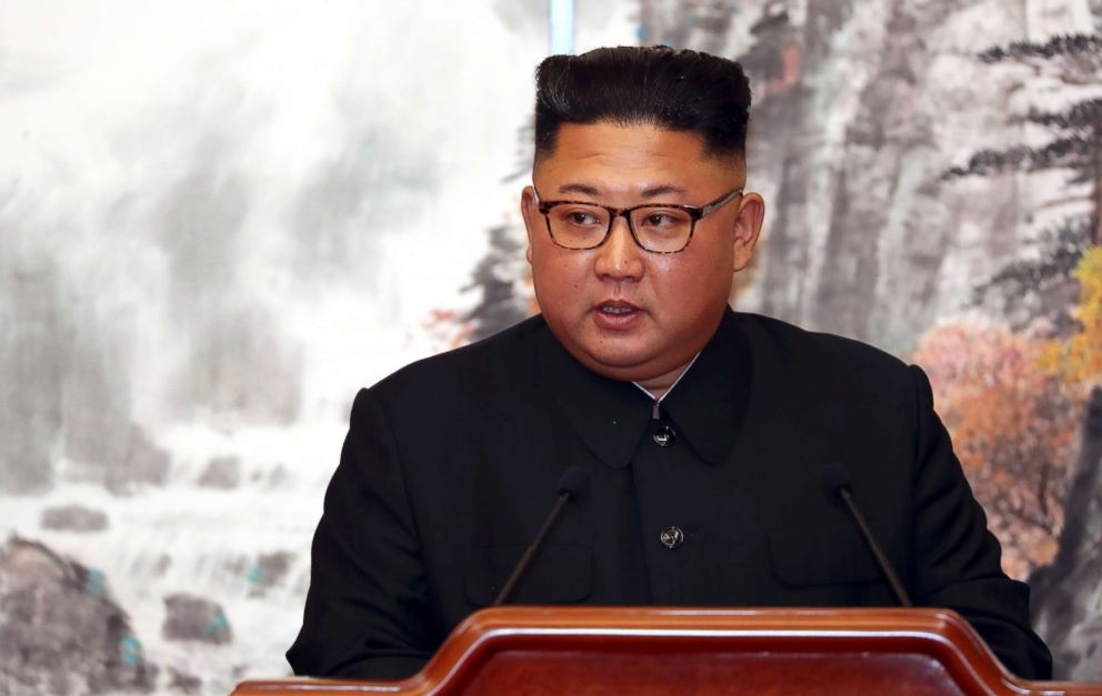 PHOTO: North Korean leader Kim Jong Un speaks during a press conference in Pyongyang, North Korea, Sept. 19, 2018.