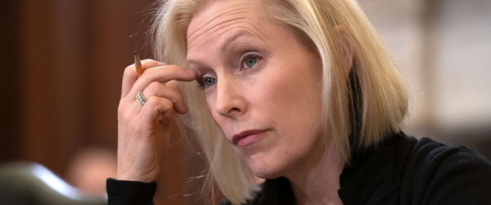 PHOTO: Sen. Kirsten Gillibrand, the ranking member of the Senate Armed Services Subcommittee on Personnel, listens during a hearing about sexual assault in the military, on Capitol Hill in Washington, March 6, 2019.