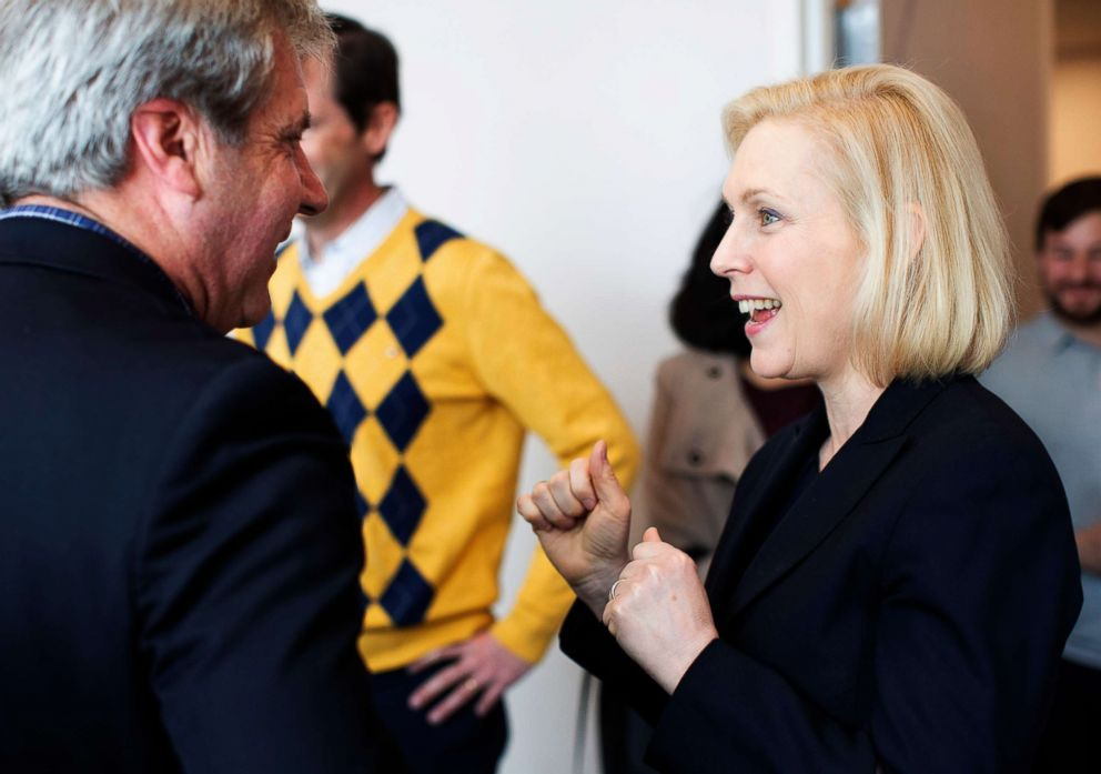 PHOTO: Kirsten Gillibrand campaigns at the Portsmouth Public Library during a campaign stop in Portsmouth, New Hampshire, March 15, 2019.