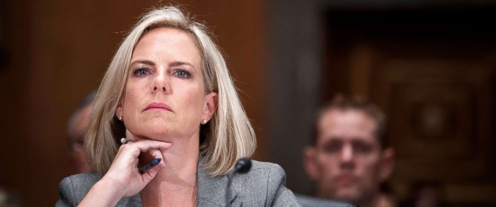 PHOTO: Secretary of Homeland Security Kirstjen Nielsen testifies during a Senate Homeland Security and Governmental Affairs Committee hearing in Washington, Oct. 10, 2018.