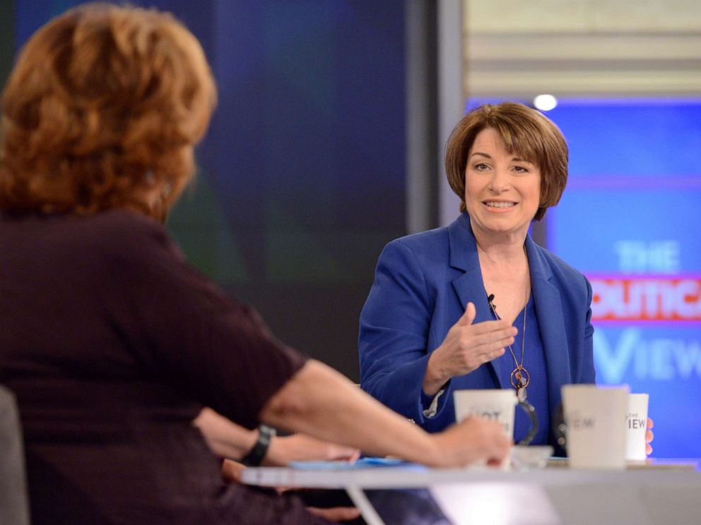 PHOTO: Senator Amy Klobuchar appears on ABCs The View, Oct. 18, 2018.