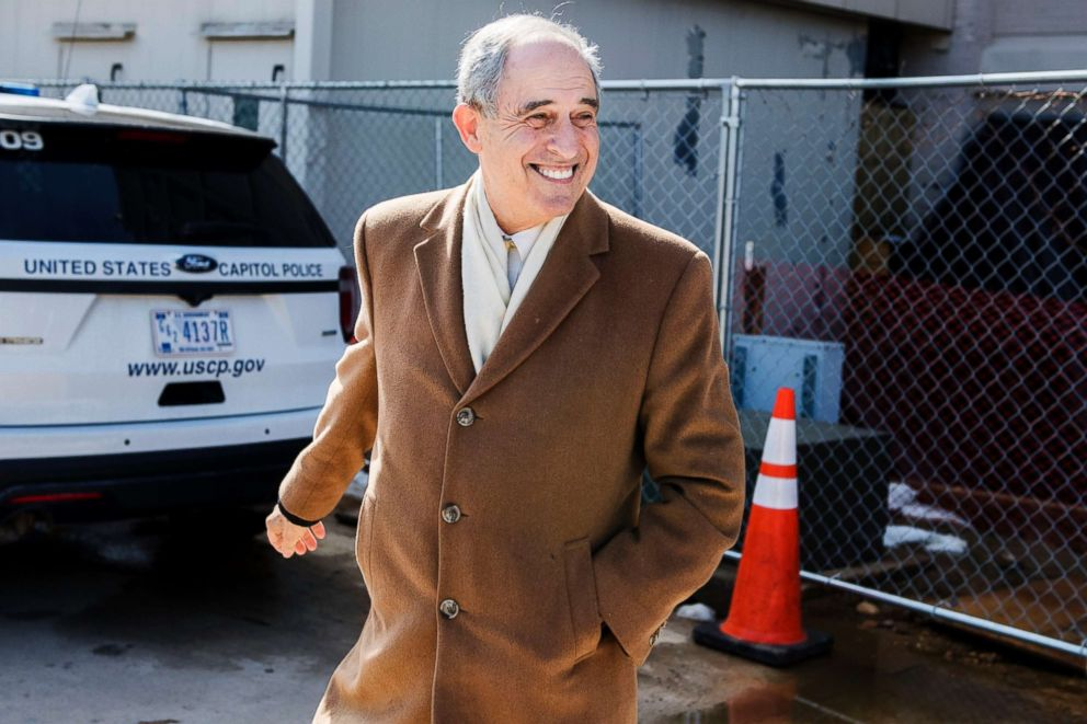 PHOTO: Lanny Davis, attorney for Michael Cohen, leaves the Monocle restaurant on Capitol Hill, Feb. 21, 2019.