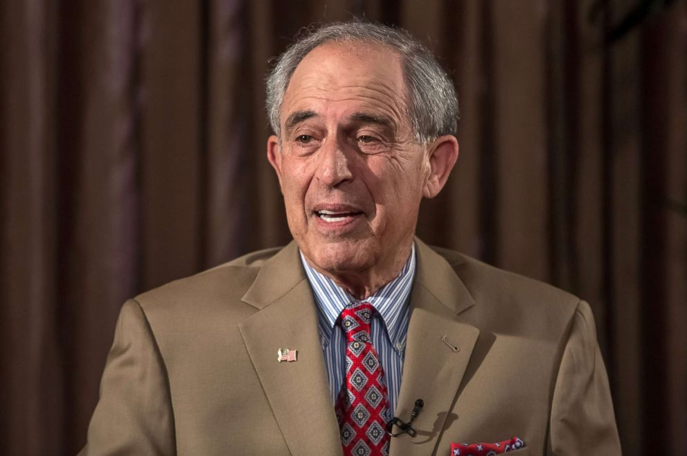 PHOTO: Lanny Davis, U.S. attorney and former Clinton political strategist, speaks during a Bloomberg Television interview in Prague, Czech Republic, on May 22, 2018.