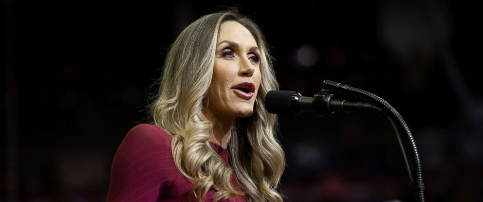 PHOTO: Lara Trump speaks during a campaign rally at the Toyota Center in Houston, Texas, Oct. 22, 2018.