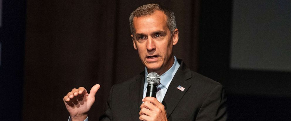 PHOTO: Corey Lewandowski, campaign manager for Donald Trumps 2016 campaign, speaks at the Turning Point High School Leadership Summit in Washington, DC on July 26, 2018.