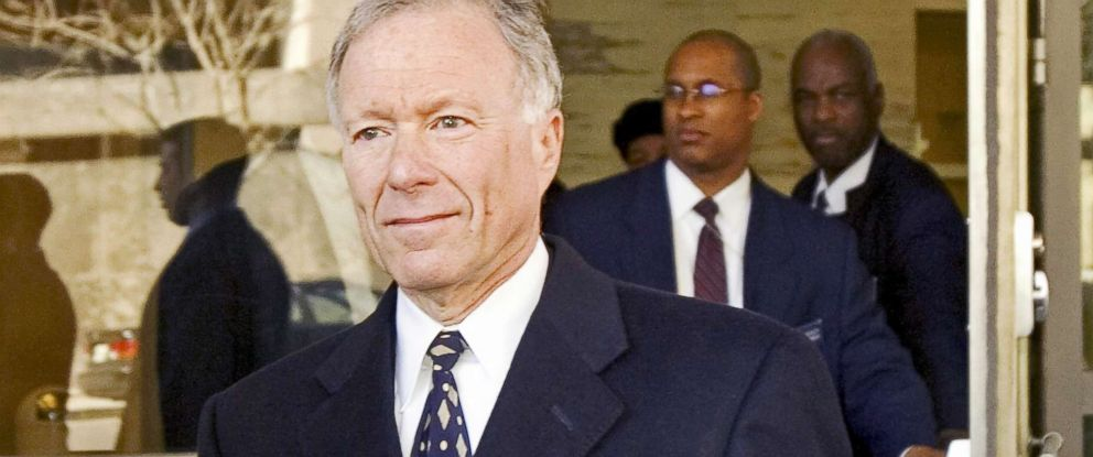 "PHOTO: Former Chief of Staff to Vice President Dick Cheney, Lewis ""Scooter"" Libby, walks from federal court after the verdict in his case was read at Federal Court in Washington, D.C., on March 06, 2007."