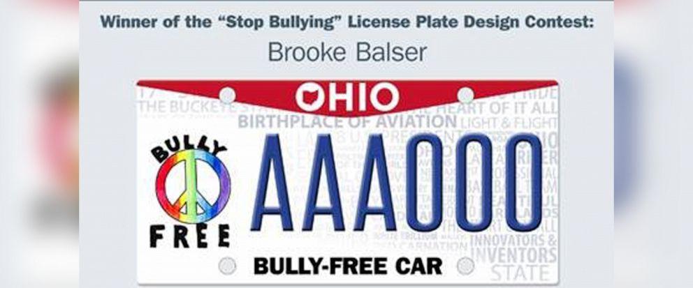 PHOTO: Winning license plate design of Brooke Balser