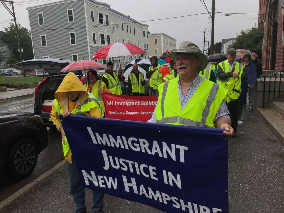 PHOTO: Democratic candidate Lincoln Soldati is walking 40 miles for immigration justice.