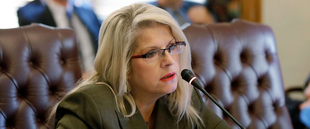 PHOTO: In this Jan. 28, 2015 file photo, Sen. Linda Collins-Smith speaks at the Arkansas state Capitol in Little Rock, Ark.