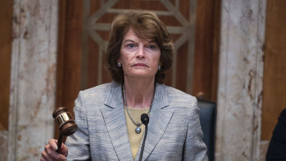 Sen. Lisa Murkowski, gavels in a Senate Appropriations Interior, Environment, and Related Agencies Subcommittee hearing in Dirksen Building on the FY2019 budget request for the Interior Department on May 10, 2018.