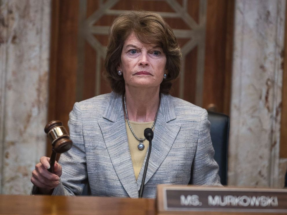 PHOTO: Sen. Lisa Murkowski, gavels in a Senate Appropriations Interior, Environment, and Related Agencies Subcommittee hearing in Dirksen Building on the FY2019 budget request for the Interior Department on May 10, 2018.