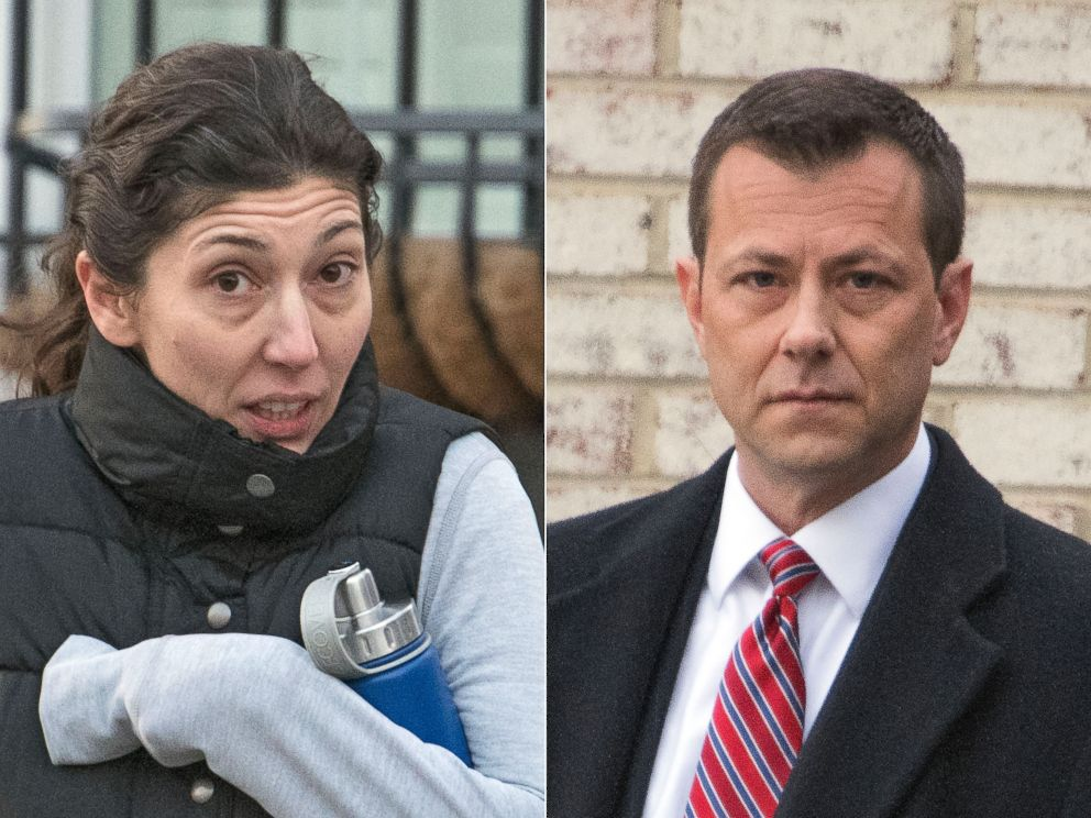 PHOTO: Department of Justice attorney Lisa Page and FBI Agent Peter Strzok, in Jan. 2018.