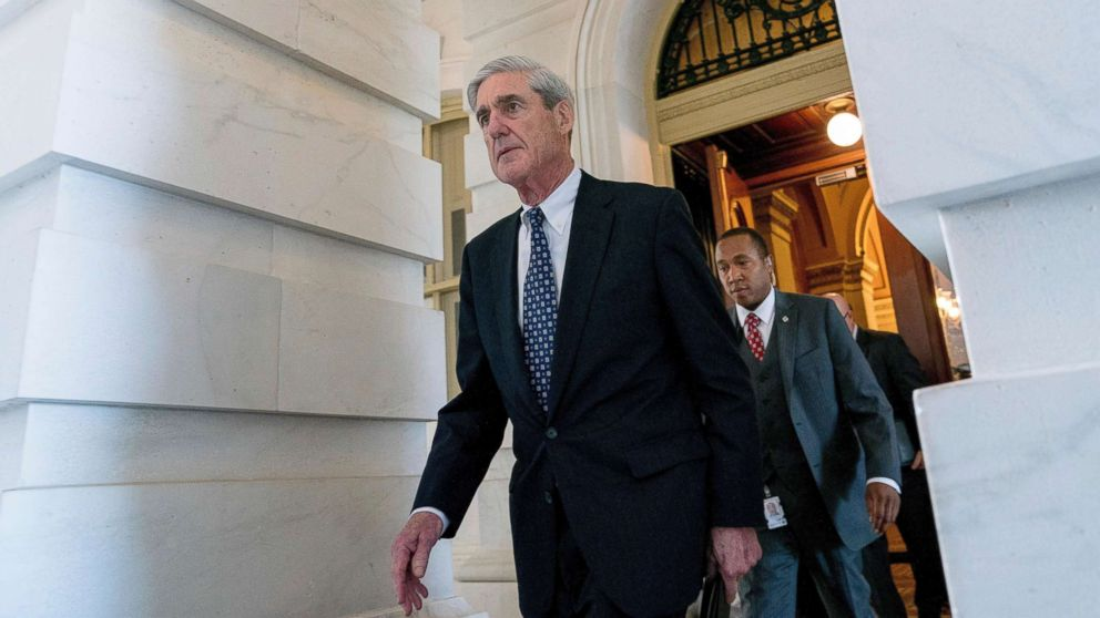 Special Counsel Robert Mueller departs Capitol Hill following a closed door meeting in Washington, June 21, 2017.