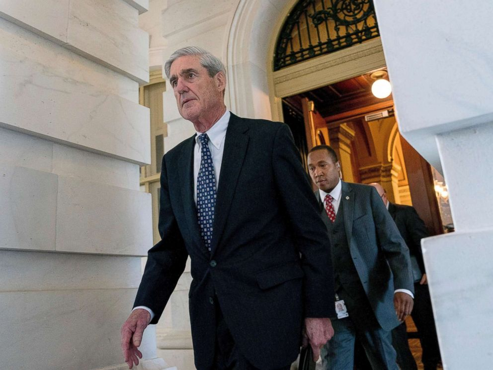PHOTO: The Special Councils, Robert Mueller, left Capitol Hill after a closed door meeting in Washington, June 21, 2017.