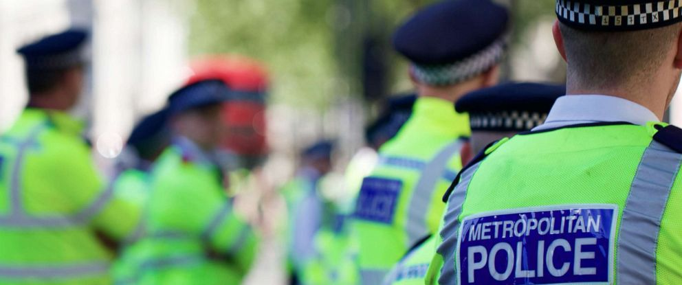 PHOTO: London Metropolitan Police are pictured in this undated stock photo.