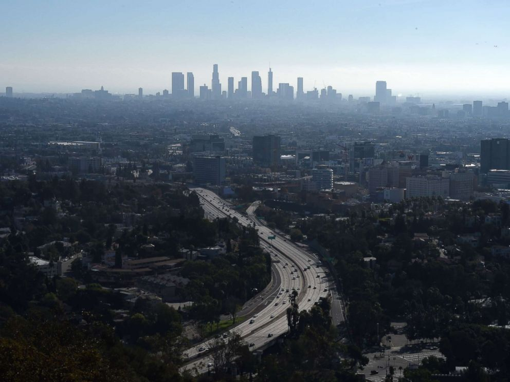 PHOTO: A morning view of downtown Los Angeles, a Sanctuary City, on Jan. 1, 2017 from the Hollywood Bowl Overlook in Hollywood, Calif.