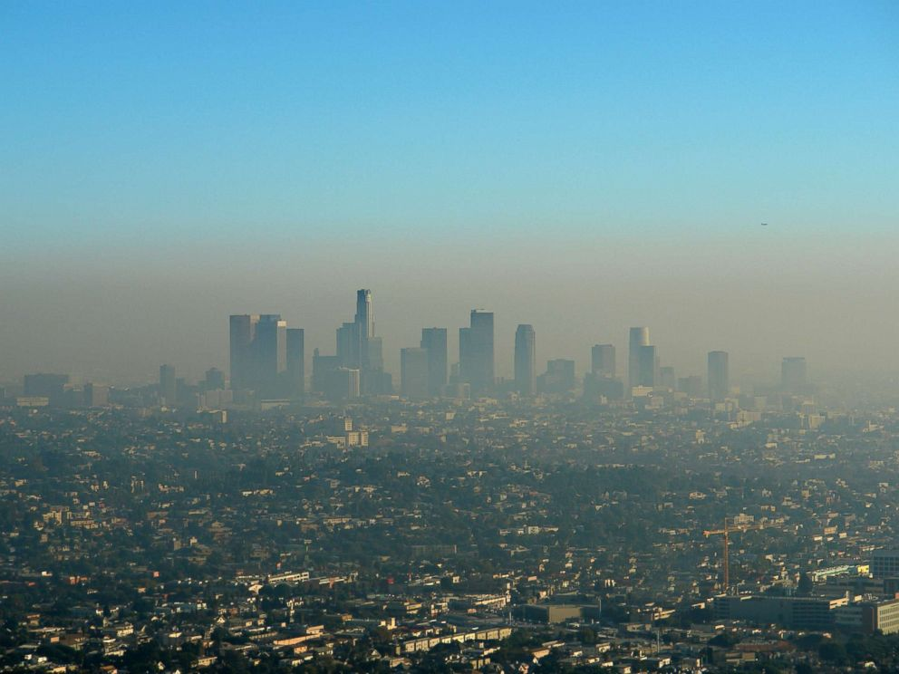 PHOTO: Los Angeles covered in smog in this undated photo.