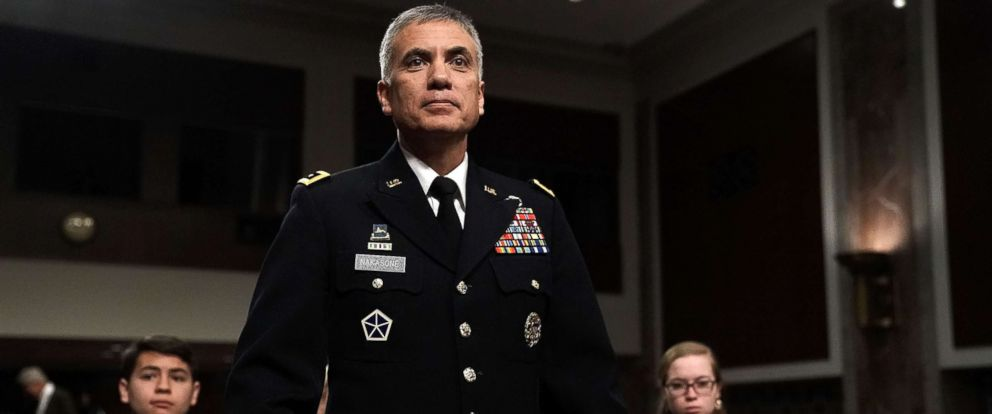 PHOTO: U.S. Army Lt. Gen. Paul M. Nakasone waits for the beginning of a confirmation hearing before the Senate Armed Services Committee, March 1, 2018, on Capitol Hill in Washington, DC.