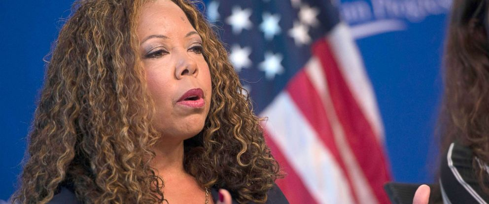 PHOTO: In this file photo, Lucia McBath, faith and community outreach leader for Everytown for Gun Safety, speaks about gun violence and the death of her son Jordan Davis, Oct. 24, 2016, in Washington, DC.