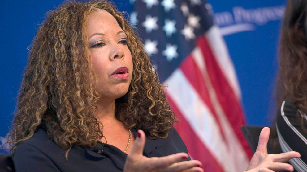 "In this file photo, Lucia McBath, faith and community outreach leader for Everytown for Gun Safety, speaks about gun violence and the death of her son Jordan Davis, at the Center for American Progress event ""Debbie Allen On Arts and Lived Experience: Race, Violence, And Access To The American Dream,"" Oct. 24, 2016, in Washington, DC."