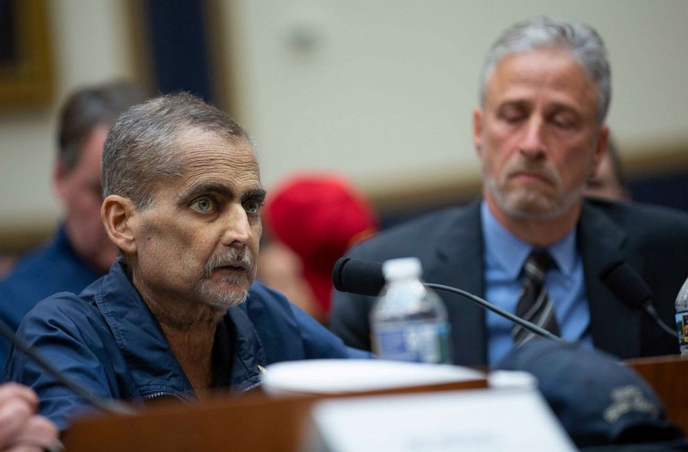 PHOTO: NYPD Detective Luis Alvarez testifies at a hearing on the 9-11 Victims fund before the Judiciary subcommittee on Capitol Hill, June 11, 2019, in Washington, D.C.