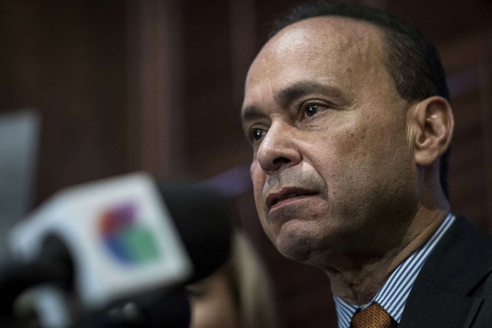 PHOTO: Rep. Luis Gutierrez, a Democrat from Illinois, speaks during a news conference in Chicago, Nov. 28, 2017.