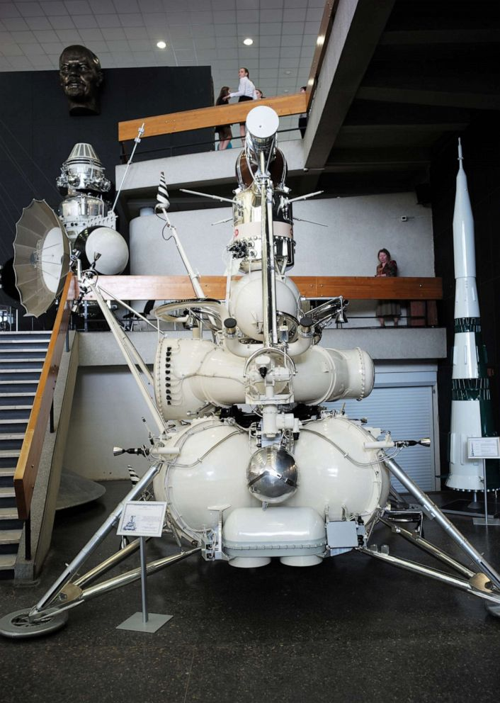 PHOTO: The Luna-16 automated station in the Tsiolkovsky State Museum of the History of Cosmonautics in Kaluga.