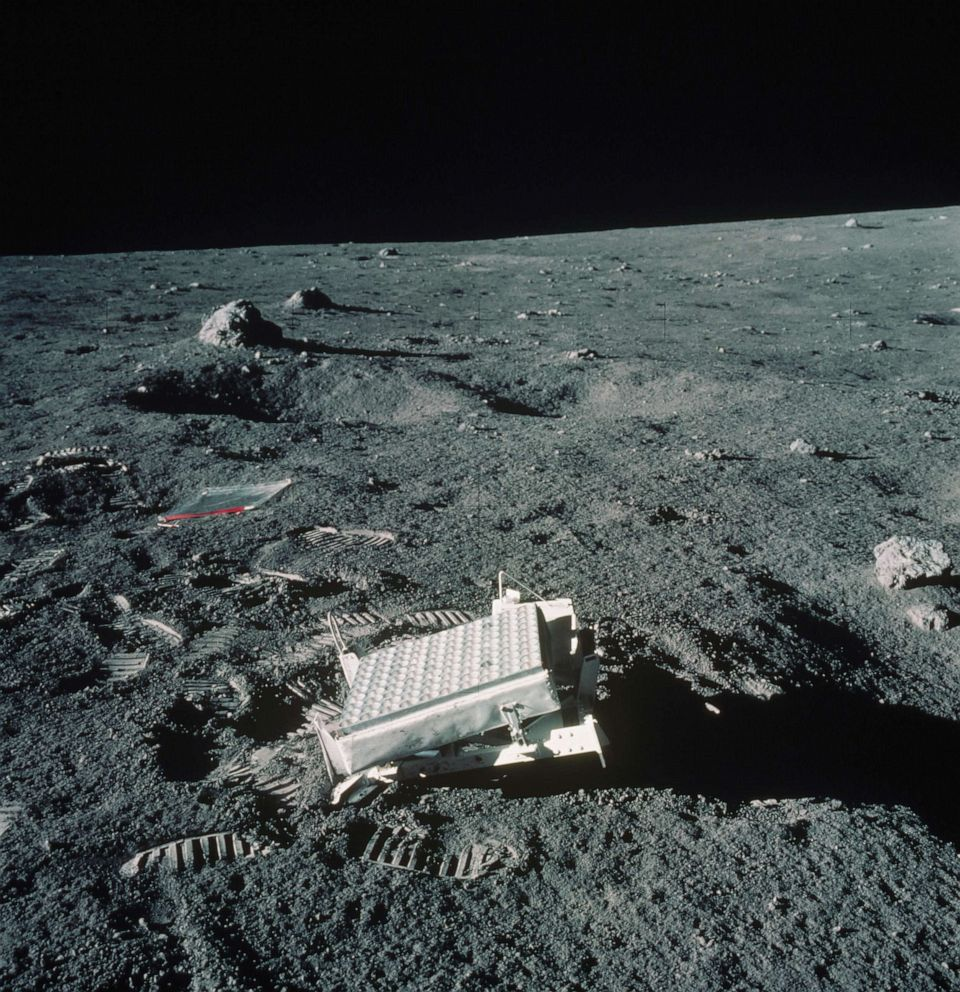 PHOTO: A laser reflector was left on the moon for scientists to use as a measuring device.